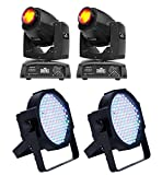 (2) CHAUVET Intimidator Spot 255 LED Lights w/ (2) ADJ Mega Par Profile Lights