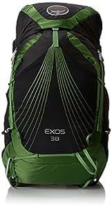 Osprey Packs Exos 38 Backpack, Basalt Black, Small