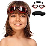 SWIM ELITE Kids Goggles for Swimming with Fun Car Hard Case for Kids & Toddlers Age 2-8 Years Old