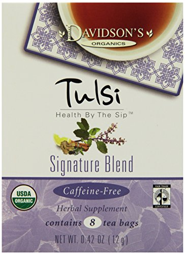Davidson's Tea Tulsi Signature Blend, 8-Count Tea Bags (Pack of 12)