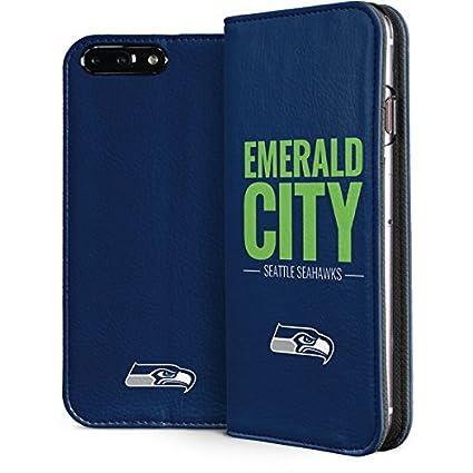 check out 116d2 10c28 Amazon.com: Skinit NFL Seattle Seahawks iPhone 8 Plus Folio Case ...