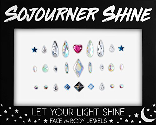Face Jewels Glitter Gems Rhinestones – Eye Body Jewels Gem