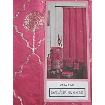zara pink shower curtain fabric