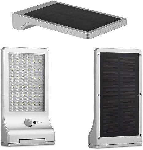 LED LOVERS Lámpara Solar LED de Pared Exterior, Foco ultrafino con ...