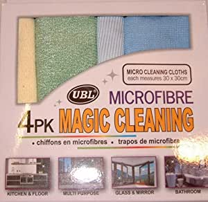 Magic Cleaning – Paños de microfibra de Pack de 4