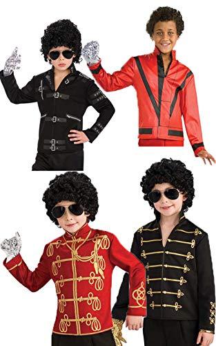 Boys Black Michael Jackson Military Jacket