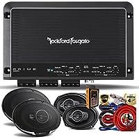"Rockford Fosgate R250X4 Prime 250 Watts 4-Channel Amplifier + (4) Kenwood KFC-6985PS 6x9"" 4-Way Speakers + Amp Kit"