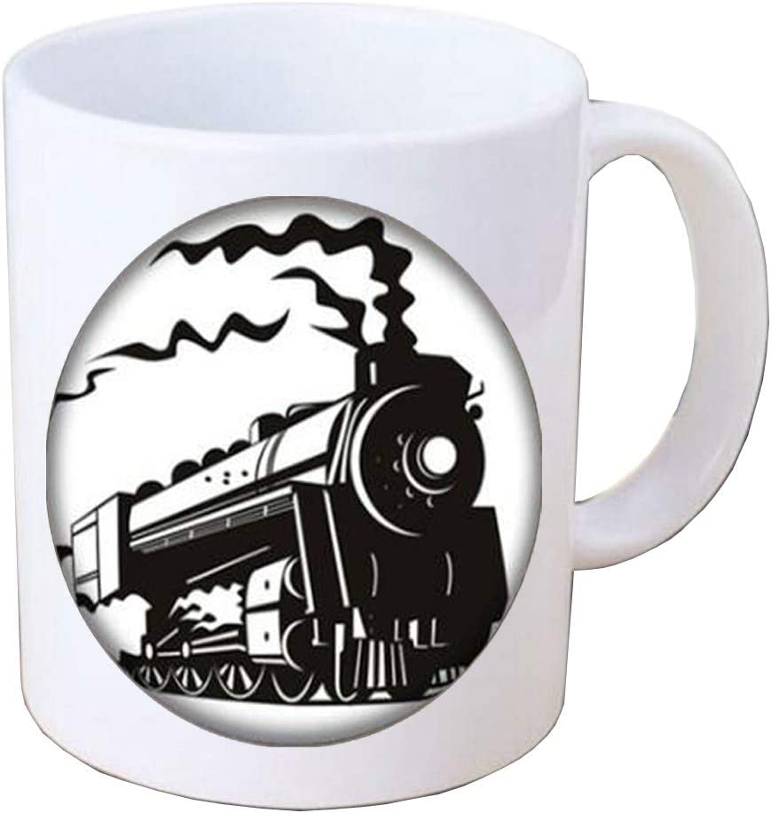 Locomotive Train Front Coffee Mug Long Chain Coffee Mug For Ren Train Jewellery Train Coffee Mug Train Gifts Transport Gift Locomotive Coffee Mug Bv347 Kitchen Dining