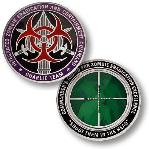 Integrated Zombie Eradication and Containment Command Charlie Team Challenge Coin Northwest Territorial Mint SG/_B005OT0I54/_US