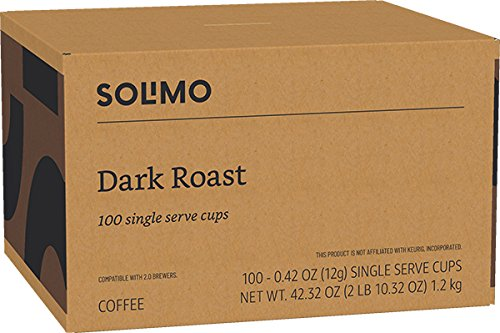 Amazon Brand - 100 Ct. Solimo Dark Roast Coffee Pods, Compatible with 2.0 K-Cup Brewers by Solimo (Image #5)