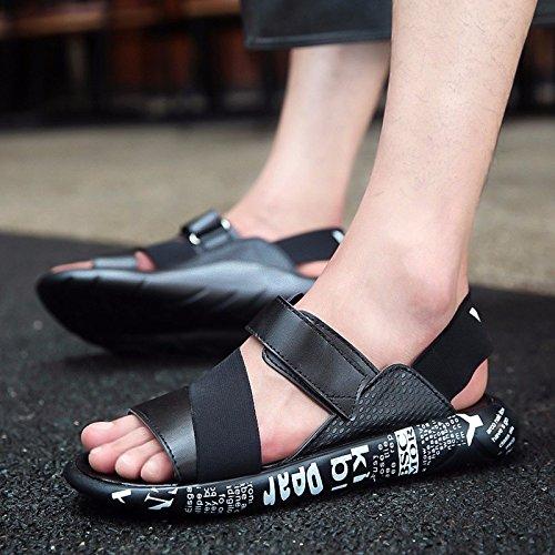 Uomini D'estate Trend Il nuovo sandalo studentesco Gioventù Tempo libero Scarpe antisdrucciolo sandali da spiaggia, bianco e nero, UK = 8.5, EU = 42 2/3