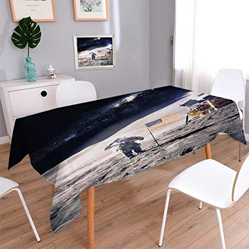 Anmaseven Space Oblong Dinner Picnic Table Cloth Astronaut o