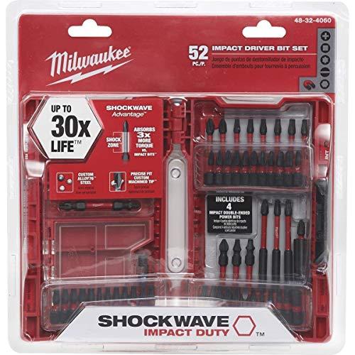 (Milwaukee SHOCKWAVE 48-32-4060 52pc. Impact Driver Bit)