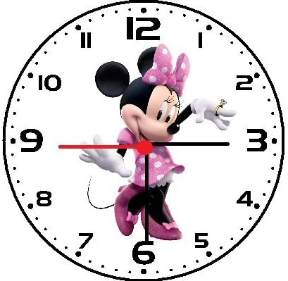 Minnie Mouse Clubhouse PERSONALIZED Wall Clock Disney Kids Girls Bedroom GIFT