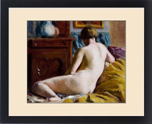 Framed Print of Reclining Nude