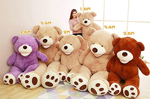 Life Size Huge Plush Teddy Bear Unstuffed Soft Giant Animal Toy (79 Inch/  6.6