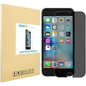 iPhone 6s Plus Privacy Screen Protector, PLESON® iPhone 6 Plus 6S Plus Privacy Tempered Glass Screen Protector, [3D Touch Compatible] 0.3mm Anti-Spy, Anti-Scratch Screen Protector for iPhone 6/6s Plus