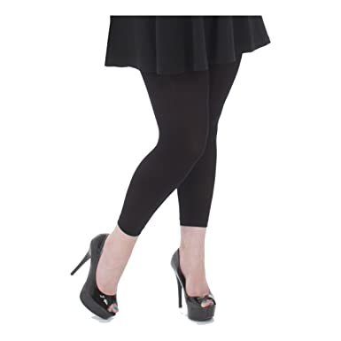 3b64d3d85d5d7 Plus Size Black 80 Denier Opaque Footless Tights - UK Size 24 to 26: Amazon. co.uk: Clothing