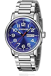 Wenger 01.0341.105 Blue Dial Stainless Steel Men's Watch