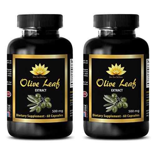 Immune support pill - OLIVE LEAF EXTRACT - Antioxidant pills - 2 Bottle 120 Capsules by SKIN CARE SOLUTIONS