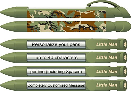 Baby Pen by Greeting Pen- Personalized Birth Announcement Pens- Baby Little Man Rotating Message Pens 100 pack (P-BP-29-100) by Greeting Pen