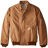 Product review for Carhartt Men's Big & Tall Flame Resistant Duck Bomber Jacket, Brown,3X-Large/Tall