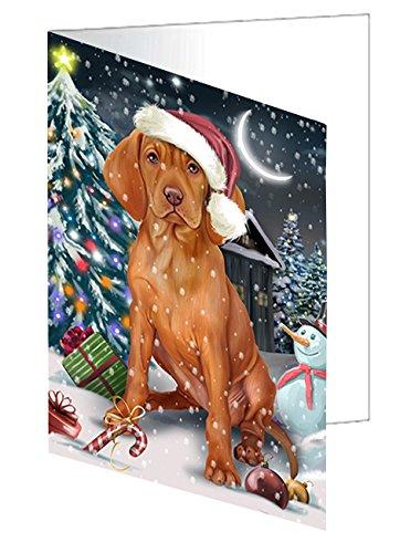 Holly Jolly Christmas Card - Have a Holly Jolly Christmas Happy Holidays Vizsla Dog Greeting Card GCD2680 (20)