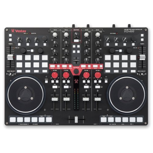 Vestax VCI-400 Professional MIDI and Audio DJ Controller with Built in ()