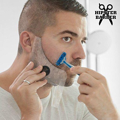 Hasendad Beard Template - Molde de barba con peines para afeitado, transparente: Amazon.es: Salud y cuidado personal