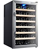Kalamera 28 Bottle Stainless Steel Freestanding Wine Refrigerator
