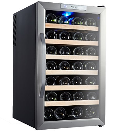 Kalamera Bottle Stainless Freestanding Refrigerator