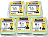 10 quart vacuum bags - ProTeam 10 qt Backpack Bags - 5 Pack Bundle (100331)