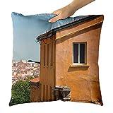 Westlake Art - Frame Orange - Decorative Throw Pillow Cushion - Picture Photography Artwork Home Decor Living Room - 18x18 Inch (4998F)