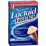 Lactaid Fast Action Caplets, 60 caplets by Johnson & Johnson (Pack of 2)