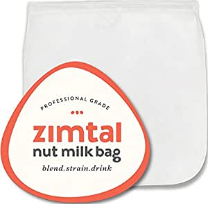 "Premium Quality - Nut Milk Bag - XL - 13 "" X 13 "" - Smoothie Strainer - Cold Brew Coffee Maker- Free Recipes Included - Reusable - Filter Bag - Professional Industry - Largest on Amazon"