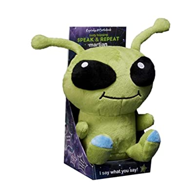 Cupcakes and cartwheels Cuddly Speak & Repeat Martian Plush: Toys & Games