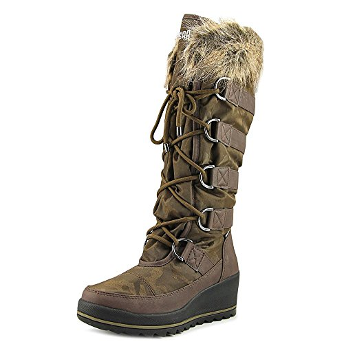 Cougar Women's Lancaster Wedge Snow Boot,Dark Brown Nova Nylon,US 8 M by Cougar