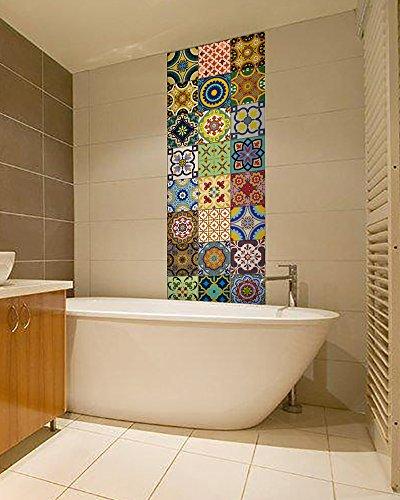 Backsplash Tile Stickers 24 Pc Set Traditional Talavera