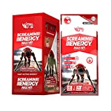 Screamin Energy Max Hit Maximum Strength Energy Drink with Panax Ginseng Extract, Caffeine and Vitamins - Coffee Mocha Flavor, 24 Count