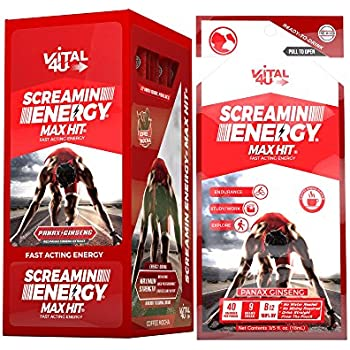 d900cf6e8be2 Screamin Energy Max Hit Maximum Strength Energy Drink with Panax Ginseng  Extract