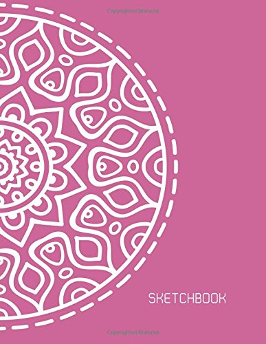Download Sketchbook: Big Flower Mandala On Pink Cover Blank pages, Extra large (8.5 x 11) inches, 110 pages, White paper, Sketch, Draw and Paint (mandala sketchbook cover2) (Volume 2) PDF