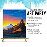 "U.S. Art Supply 12"" High Natural Wood Display Stand"