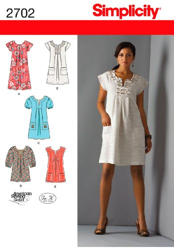 - Simplicity Sewing Pattern 2702 Misses Dresses, H5 (6-8-10-12-14)