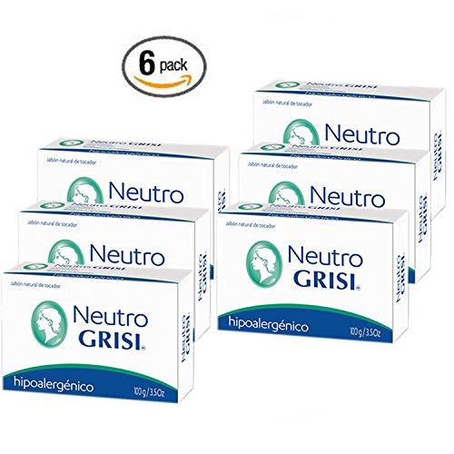 Price comparison product image 6pk - Neutral Soap - Hypoallergenic - Jabon Neutro - Grisi