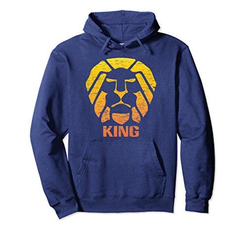 Savannah King - Unisex King Lion Savannah Hoodie Medium Navy