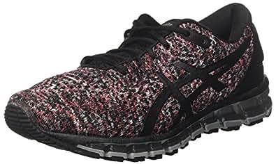 Asics Gel-Quantum 360 Knit 2, Zapatillas de Running para Hombre, (Black/Classic Red/Stone Grey 9023), 40.5 EU
