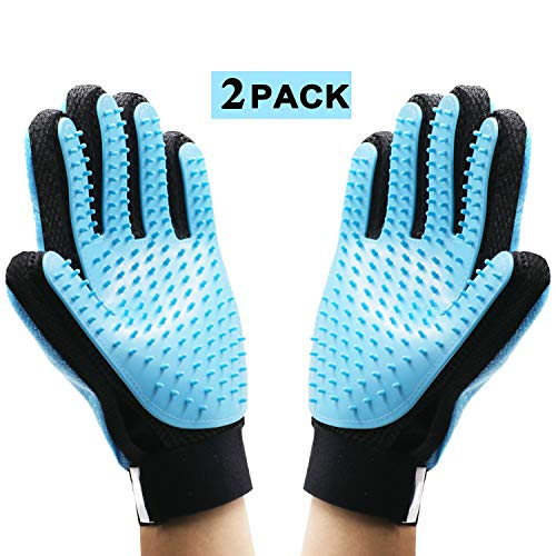 Kapong Pet Grooming Glove – Gentle Deshedding Brush Glove – Efficient Pet Hair Remover Mitt – Enhanced Five Finger…