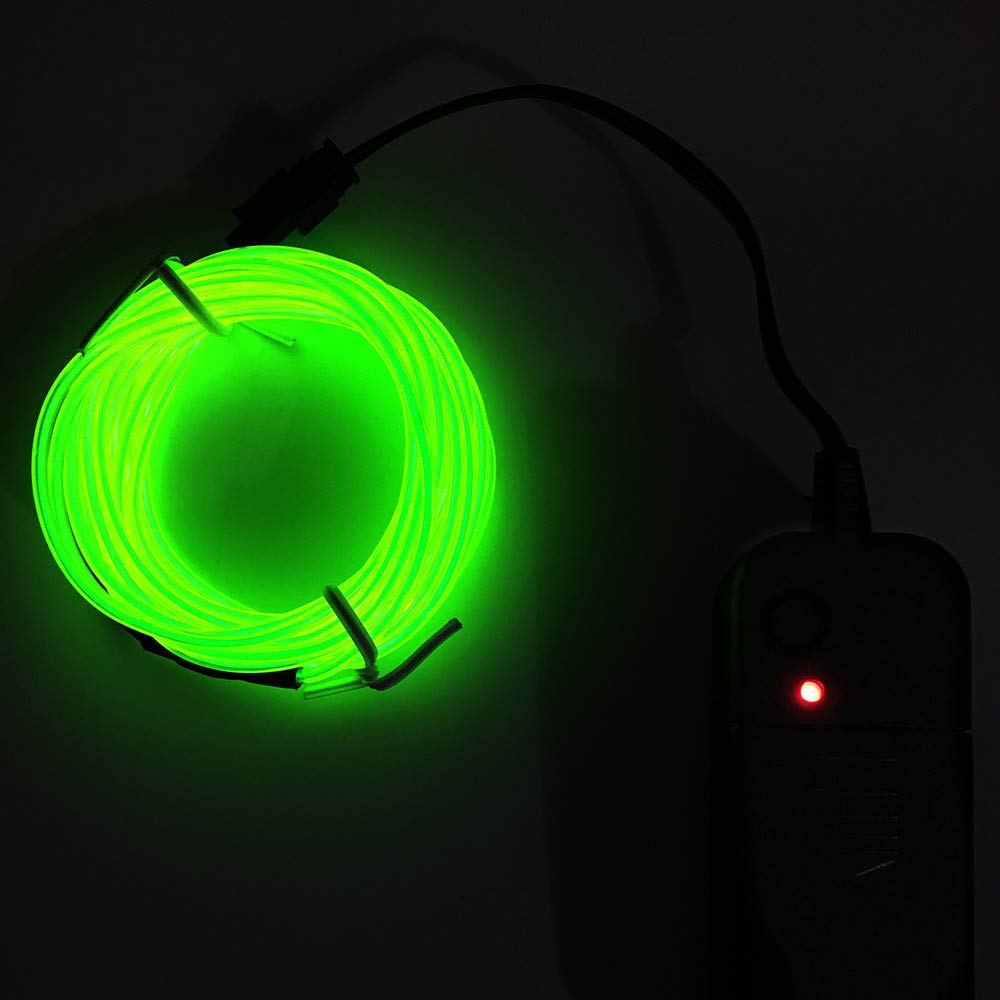 Tpingfe Flexible LED Light EL Wire String Strip Rope Glow Decor Neon Lamp USB Controller (H)