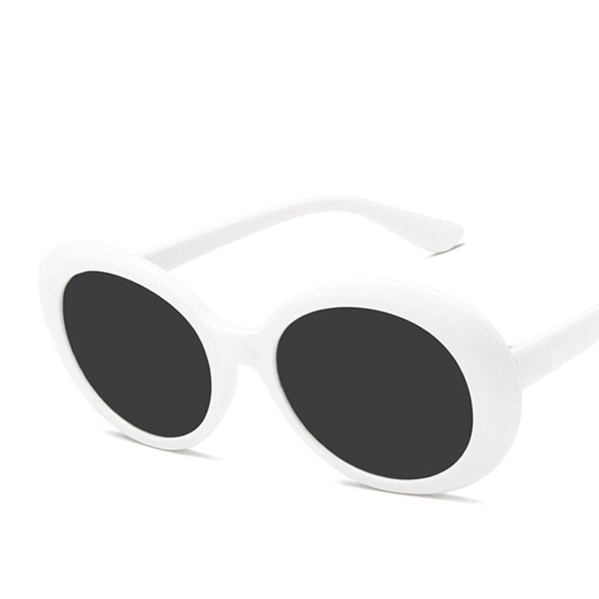 LQABW 2018 Neue Ovale UV-Schutz Vintage-Stil Funky Sonnenbrillen Für Frauen Und Männer,A