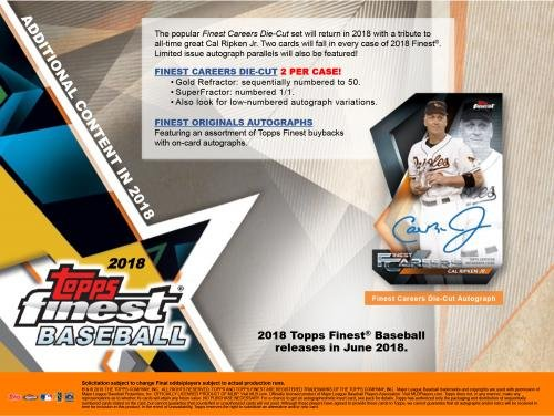 2018 Topps Finest Baseball Hobby Edition Factory Sealed